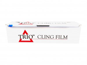 PW930800WCB-TR - Trio Catering Cling Film 30cm x 800g with Cutter Box - Case of 6