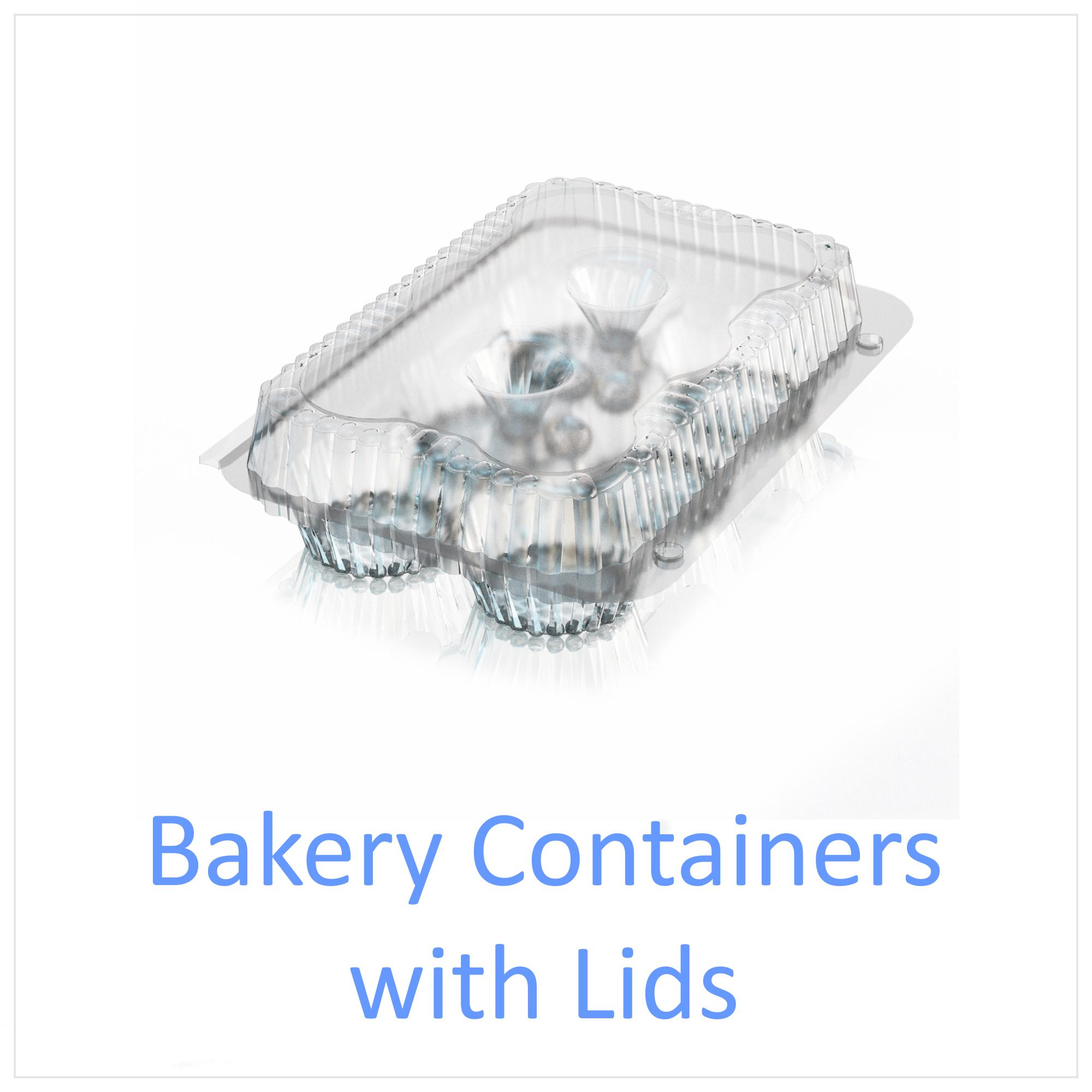 Bakery Containers with Lids