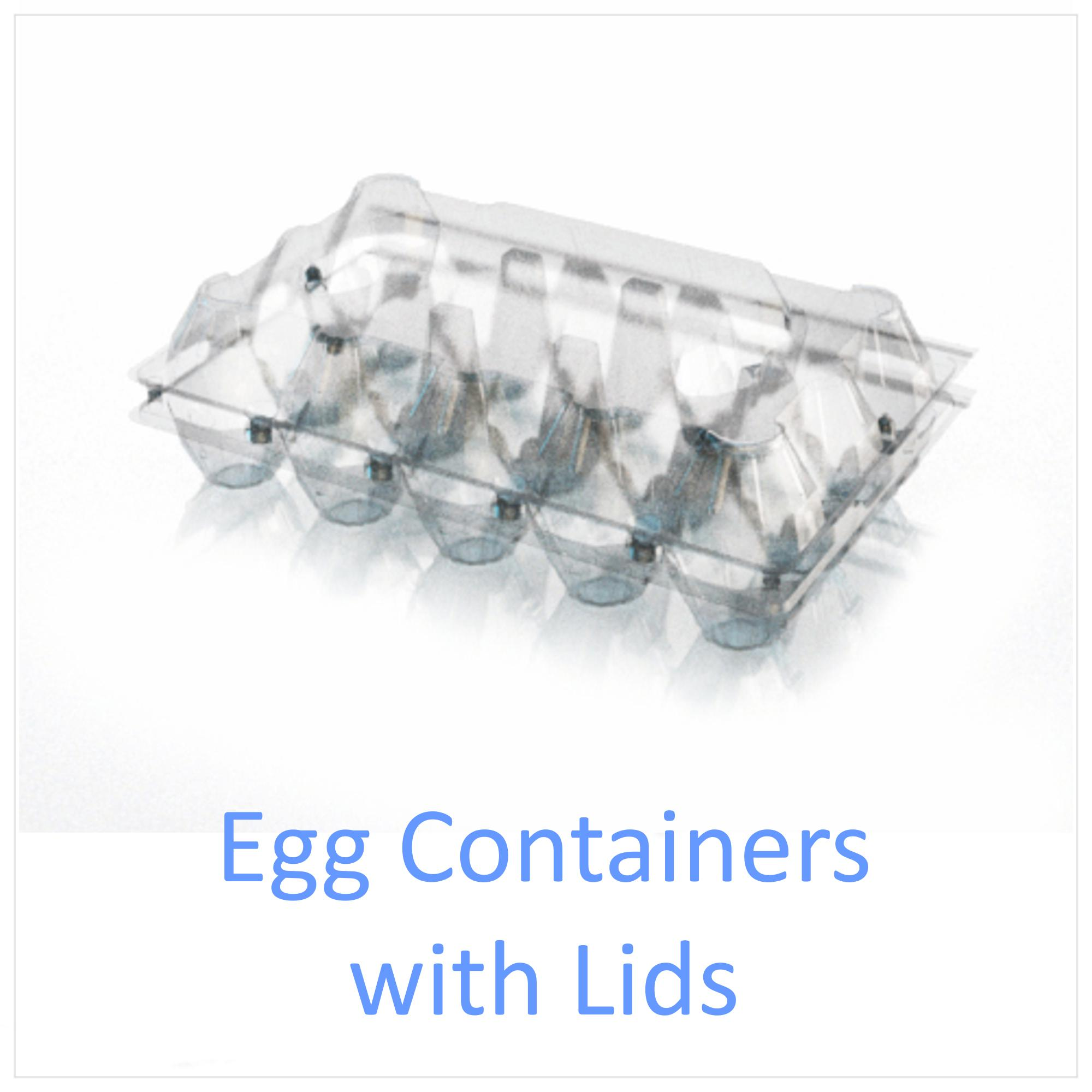 Egg Containers with Lids
