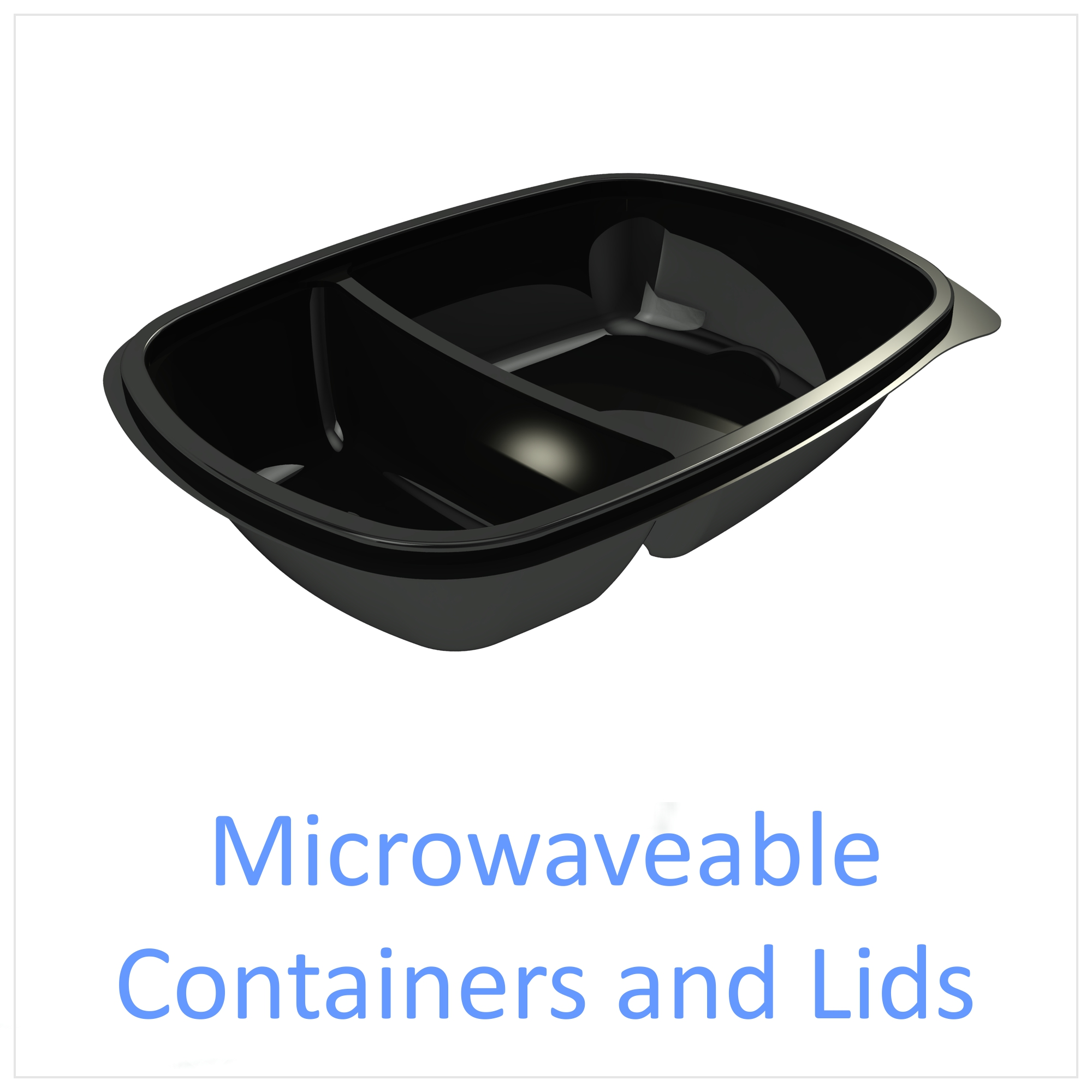 Microwaveable Containers with Lids