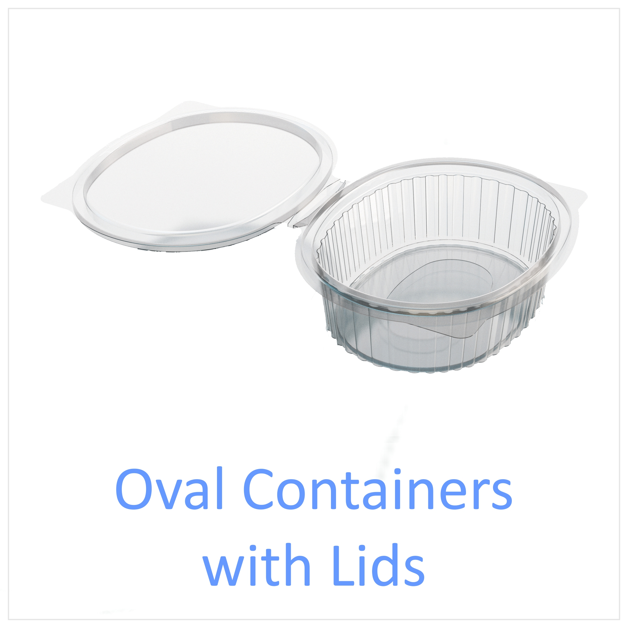 Oval Containers with Lids